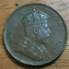 (RM) Malaysia Straits Settlements 1 One cents King Edward VII 1907.