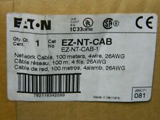 EATON EZ-NT-CAB 100m / 328' Feet, 4 Twisted Pair 26AWG Network Cable EASY-NT-CAB