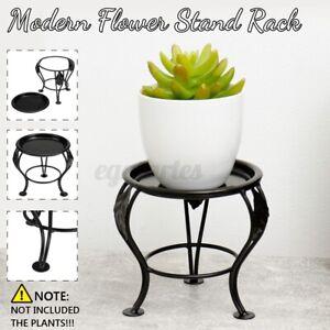Iron Metal Plant Pot Stand Flower Display Shelf Garden Patio Indoor Outdoor