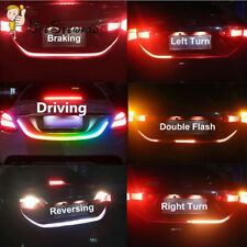 4 Color Flow Type LED Strip Tailgate Turning Signal Lights Bar Trunk Strips RGB