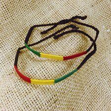 Lot of 2 Rasta Friendship Wrist Bracelet Negril Reggae Hobo Peace Festival RGY