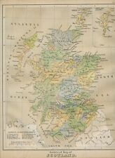 MAP SCOTLAND 1879 embossed map from the Plastic School Atlas 29,5cmx24,5cm