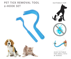 2Pc Pet Tick Safe Remover - Dog Cat Horse Rabbit Twist Tick Removal Tweezer Hook