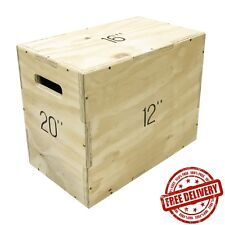 Medium Plyo Plyometric Jump Box 3-in-1 Training Crossfit Squat Gym