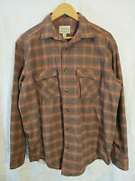 Cabela's Men's Plaid Long Sleeve Button Up Shirt Size L near mint!