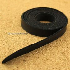 Faux Leather Strap for Wrist Shoulder Bag Raw Edge Replacement 12mm 120cm Black