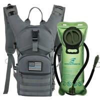 MOLLE Military Tactical Hydration Backpack With 2L Water Bladder Hiking Pack New