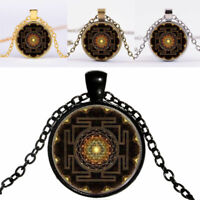 Fashion 2017 Buddhist Sri Yantra Pendant Necklace Sacred Geometry Sale