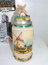 Vtg Budweiser Heritage Series The Bevo Mill Lidded Stein Gerz Germany New in Box