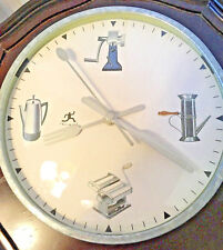 """Infinity 8"""" Wall Clock with Kitchen Theme-Retro Style Appliances & Utensil Arms"""