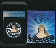 2010 AUSTRALIAN SAINT MARY MACKILLOP 1 oz SILVER  COIN  - SOLD OUT AND SCARCE