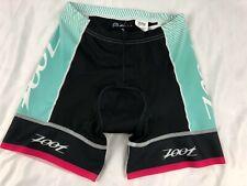 "Zoot Womens' Tri Team 6"" Short Size Small Aqua (4m)"