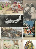 Theme Postcards Kids Planes Cats Easter And More Postcard Lot of 20 01.05