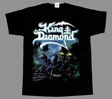 King Diamond Logo Music Band Singer Short Sleeve Classic Baseball Shirt