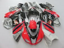 For NINJA ZX6R 2007 2008 ABS Injection Mold Bodywork Fairing Kit Cowl Black Red