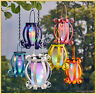 Solar Scroll Lantern Colorful Lights Hanging Tabletop Deck Patio Outdoor Decor