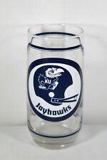 1976 Nebraska Cornhusker Football Kansas Jayhawks Sams Collector Series Glass