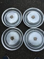 """4 15"""" 1974 1975 1976 Cadillac Deville Fleetwood hubcaps wheel covers OEM 3516097"""