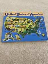 Melissa And Doug United States Of America Puzzle Guc!