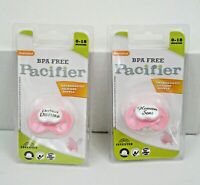 Sealed BooginHead BPA Free Orthodontic Pacifiers 0-18 Months, Set of 2, Pink