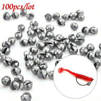Bulk Pack Of 100pcs 0.5g Round Ball Sinkers ~ Lead Weights Fishing Tackle