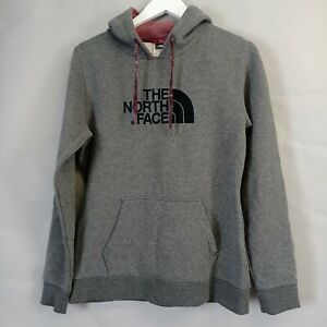 The North Face Womens Hoodie Medium Grey Fleece Lined Hooded Sweatshirt