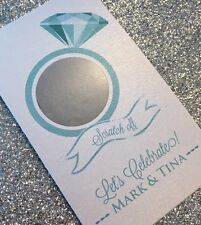 16 Diamond Ring Scratch Off Cards Bridal Shower Game - Personalized