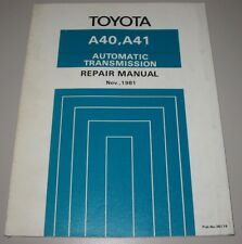 Werkstatthandbuch Toyota Starlet KP 61 Corolla Celica Cressida Automatic 11/1981