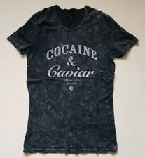 Cocaine and Caviar Crooks and Castles Mens Womens TShirt Top M 38 Black Tie Dye