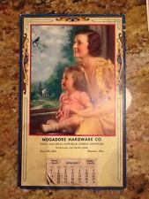 Mogadore Hardware Co. Magadore Ohio Vintage Calendar 1940