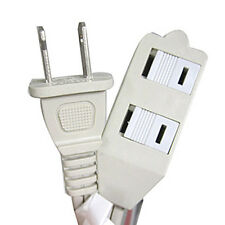5 FT 3 Outlet Indoor Wall AC Extension Cord Cable Safety Switch White B-32730