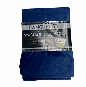 NEW Tranquility Antimicrobial Weighted Blanket Cover - 48X72 Washable Navy