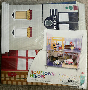 Children's Hometown Heroes Cardboard Kit Police Fireman Toy 4-pc. 140238 ages 3+