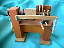 Vintage ~ German Reuge * Moving Wood Working Bench* Music Box / music player