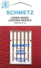 5 Leder Universal 130/705 Schmetz Nähmaschine Nadeln Flachkolben Stärke 110