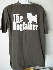 FUNNY THE DOGFATHER DOG TEE SHIRT dogs men's 2XL 2X XXL Dark Gray/Black dog