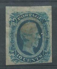 CONFEDERATE STATES 1863 10c GREEN JEFFERSON DAVIS MH