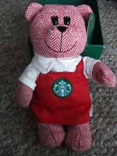 Starbucks Red Holiday Apron Bearista Girl Bear, 2016 Limited Edition, Boxed