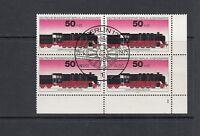Berlin Mi-Nr. 490 - 4er Block - Ecke FN 1 zentrisch gestempelt Berlin
