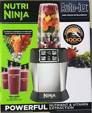 Nutri Ninja Single Blender with Auto-iQ (BL482) 1000 Watts New Free Shipping!