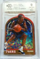 Allen Iverson #H10 NBA Hoops 2000/01 Basketball Card BCCG 9