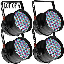 4) Mr.Dj LED-64B DMX 6-Channel Dimmer/Strobe Auto Running LED PAR 64 Stage Light