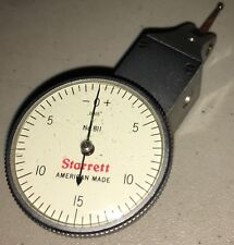 STARRETT NO.811-5P DIAL TEST INDICATOR W/ SWIVELHEAD .0005 GRADS 0-15-0 READING