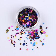 Christmas Colorful Nail Ultrathin Sequins Round Nail Art Decoration Manicure #04