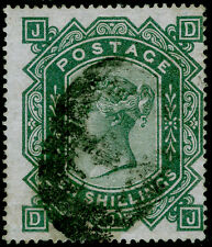 Sg128, Scarce 10s greenish grey, Used. Cat £3200. Wmk Maltese Cross. Dj