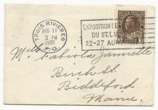 Canada Scott #108 Tied on Cover Exposition Cancel Trois Rivieres Aug 11,1921