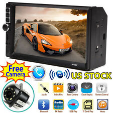 Bluetooth Car Stereo Audio Radio MP5 Player FM/SD/TF USB AUX Input Double 2 Din
