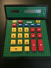 RARE vintage TYCO SUPER BLOCK CALCULATOR Lego WORKING!