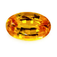 Certified Natural Ceylon Sapphire 0.85ct Golden Yellow IF Clarity Flawless Oval