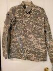 ACU Digital Camo Army Shirt Jacket Men's Sz Sm Long Uniform Military Long Sleeve